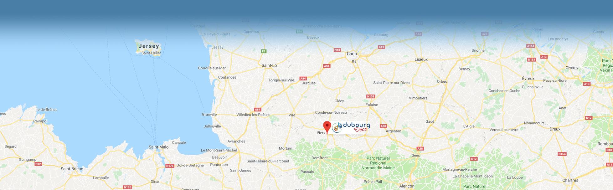 Dubourg Déco - Carte - Nous contacter